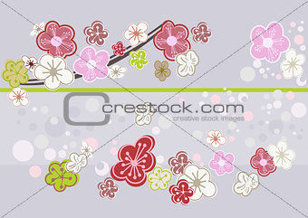 Abstract cherry blossom art picture.