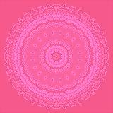 Pink Oriental Geometric Ornament