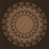 Brown Oriental Geometric Ornament