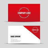 Modern red business card template