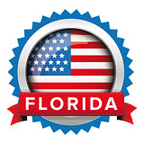 Florida and USA flag badge vector