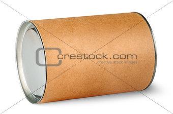 Cardboard tube with metal lids