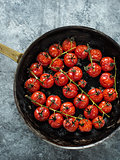 rustic roasted red summer cherry tomato