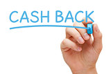 Cash Back Handwriting With Blue Marker