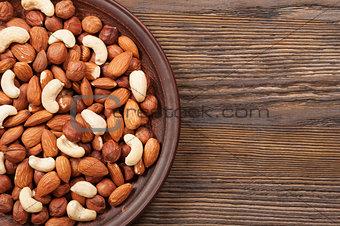 Almond, hazelnut and cashew.