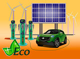 Vector eco environmental technology prolong the life of your descendants