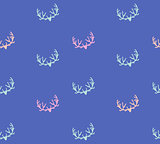 Doodle Hand Drawn Seamless Patterns with Deers