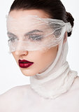 Beauty makeup plastic surgery white bandage model