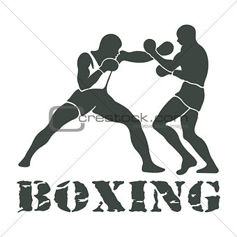 Boxing Players Fighting Sportsman Games