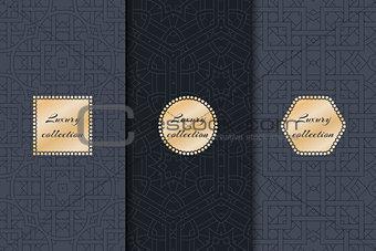 Kit of geometric backgrounds dark