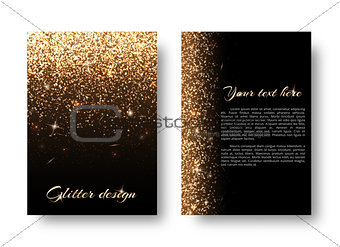 Bling background with glittering lights