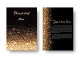 Bling background with gold lights
