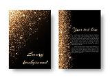 Bling background with golden light