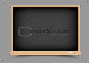 black empty blackboard