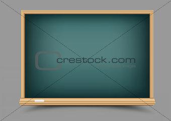 green empty blackboard