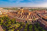 Panorama of Mezquita in Cordoba, Spain