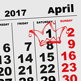 1 April Fools Day Calendar reminder