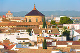 Roof of the old city and church in Cordoba, Spain