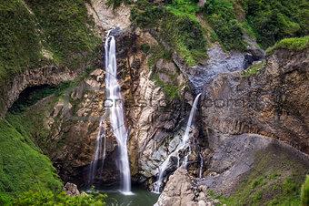 Waterfalls in Banos, Ecuador