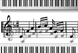 Musical notes-Piano