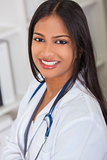 Asian Indian Female Woman Hospital Doctor
