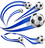 israel flag set with soccer ball
