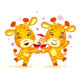 Emoji let have drink party character cartoon friends Giraffe sticker emoticon