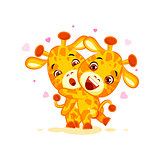 Emoji have hugs be mine character cartoon friends giraffe sticker emoticon