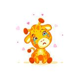 Emoji crying tears character cartoon Giraffe miss you sad frustrated sticker emoticon