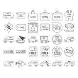 free shiping icon set