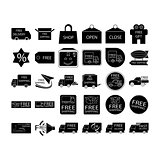 free shipping icon set