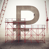 Strengthen ruble economy . 3D Rendering
