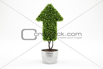 Growing the economy company . 3D Rendering