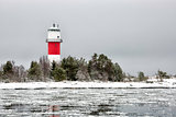 Light House with Icy Ocean
