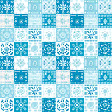 Blue background with ethnic motifs