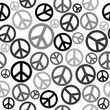 Peace sign seamless background