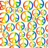 Peace symbol with circular rainbow gradient