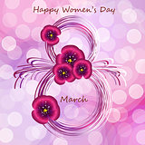 Greeting card for Women s day.