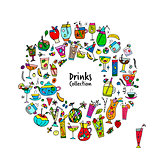 Drinks collection, sketch for your design