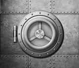 metal safe door icon 3d illustration