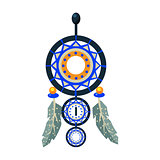Dreamcathcer Carft Decorative Item, Native American Indian Culture Symbol, Ethnic Object From North America Isolated Icon