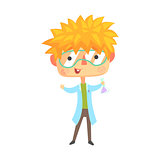 Boy Chemist, Kids Future Dream Professional Occupation Illustration.