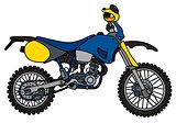 Blue scramble motorbike