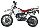White off-road motorbike