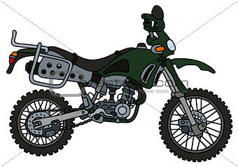 Green off-road motorbike