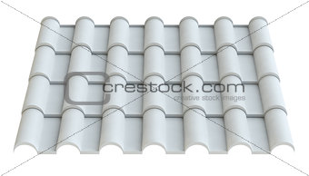 Material for roof, isolated on white