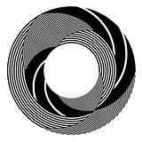 Abstract rotation circle design element.