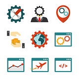Internet marketing flat icons