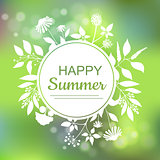 Happy Summer green card design