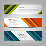 Collection banners with abstract design stripes template
